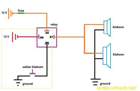diagram kabel mobil kenwood cara pasang relay klakson mobil