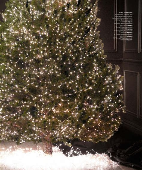 17 Best Images About Christmas Tree Inspiration On Starry String Lights Restoration Hardware