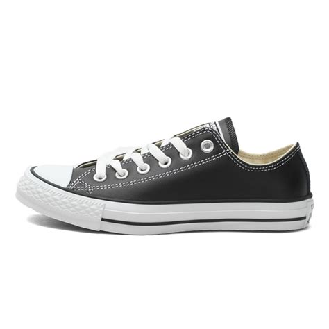 Original Converse Clasic Black White original converse low top classic unisex leather skateboarding shoes canvas sneakser in