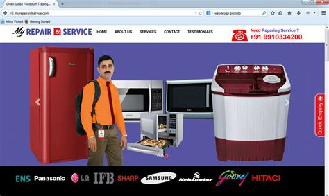 home appliance repair service website design hostonnet
