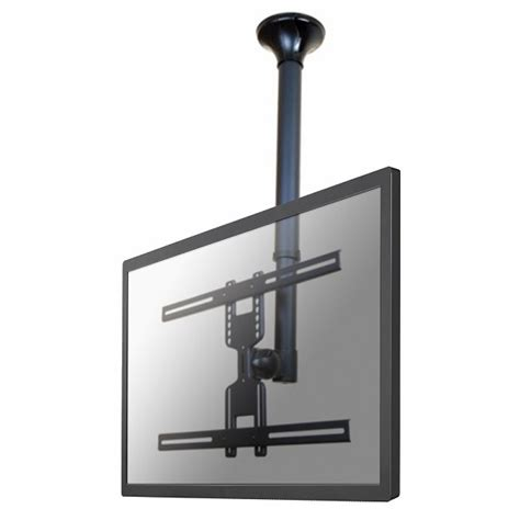 flat screen ceiling mount newstar fpma c400black flat panel ceiling mount 15 in