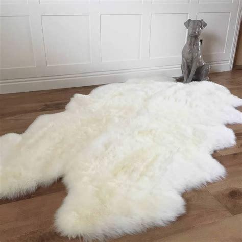 luxury sheepskin rug luxury ivory sheepskin rug x l by cowshed interiors notonthehighstreet