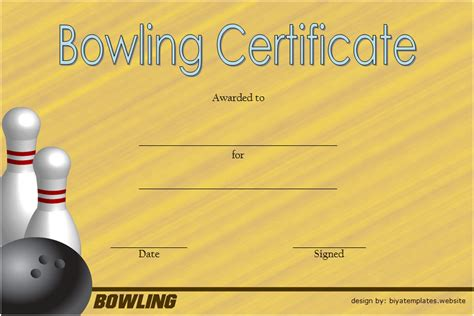 Bowling Certificate Template by Bowling Certificate Templates Best 10 Templates