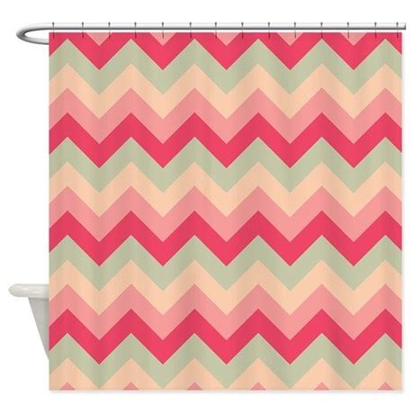 pink and white zig zag curtains pink and green zigzag shower curtain by zandiepants