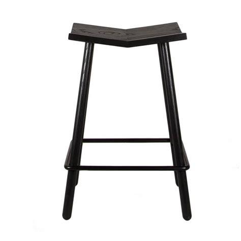 Modern Black Mitre Wooden Stool Contemporary Counter | modern black mitre wooden stool from souda contemporary