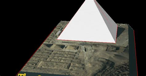 Pyramid Papercraft - seven wonders of the ancient world the great pyramid of