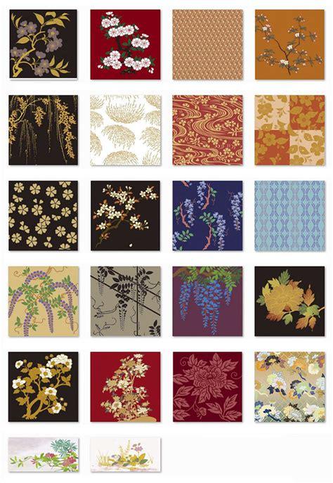 japanese pattern ai 和柄の魅力 高品位ベクターデータの背景 シームレスパターン素材 ai free style