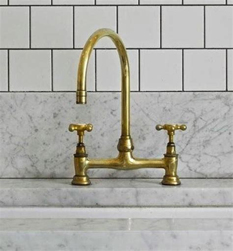 brass kitchen faucet brass is back hay interior design
