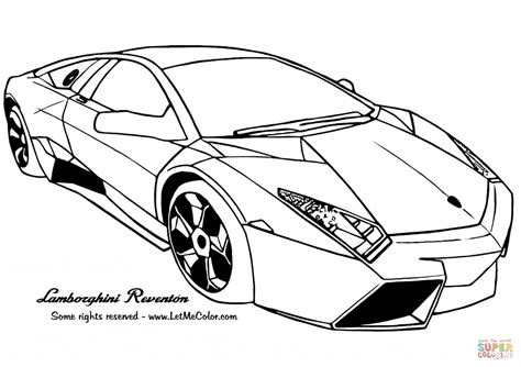 coloring pictures of supercars lamborghini reventon car coloring page transportation