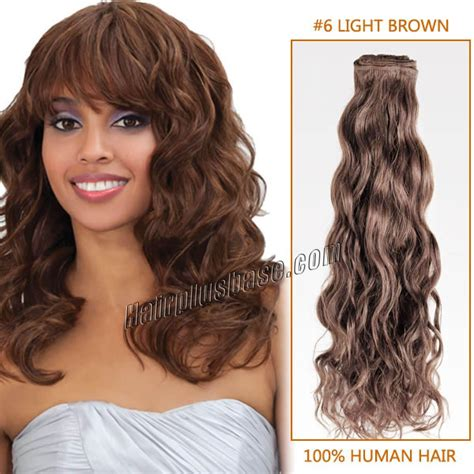 light brown curly hair 28 inch 6 light brown curly indian remy hair wefts