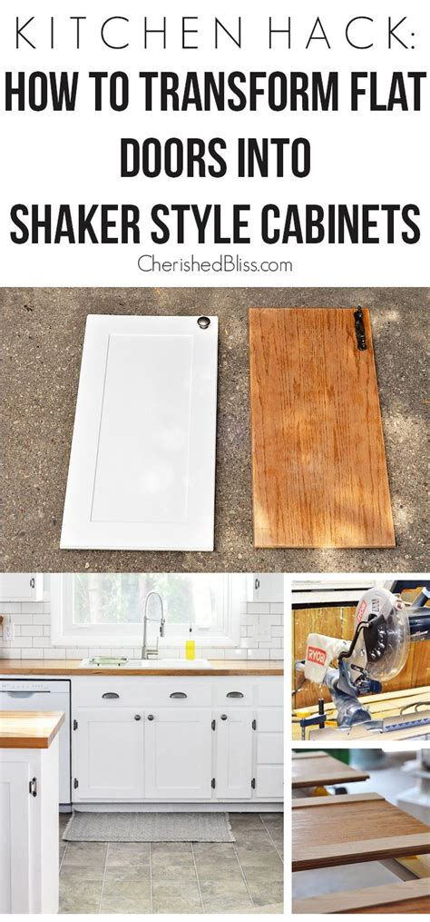 how to update kitchen cabinet doors kitchen hack diy shaker style cabinets shaker style