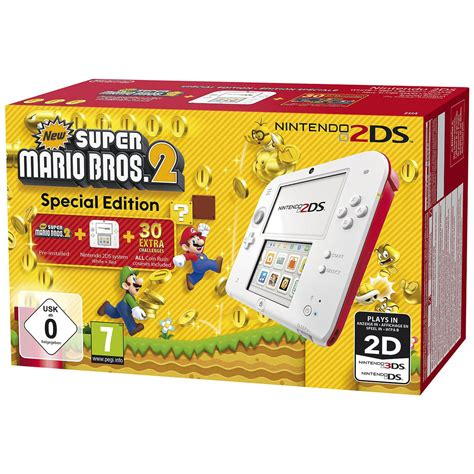 2ds console nintendo 2ds blanche new mario bros 2