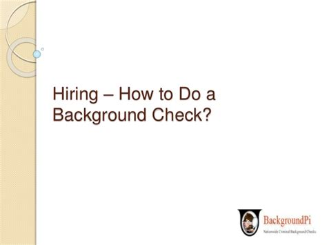 How To Do A Background Check Hiring How To Do A Background Check