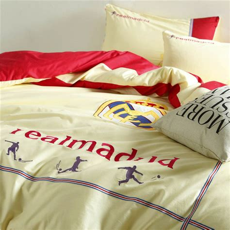 real cotton sheets real madrid cf bedding set twin queen size ebeddingsets