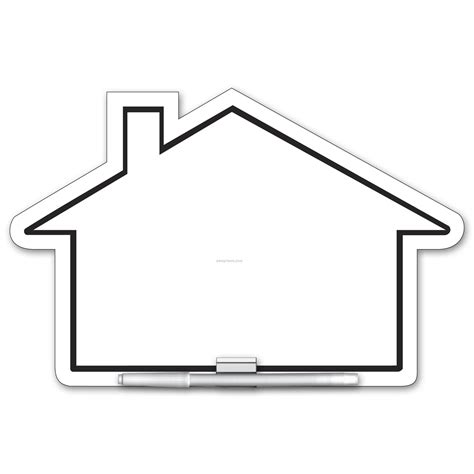 shape of house write on wipe off house shape memo board china wholesale
