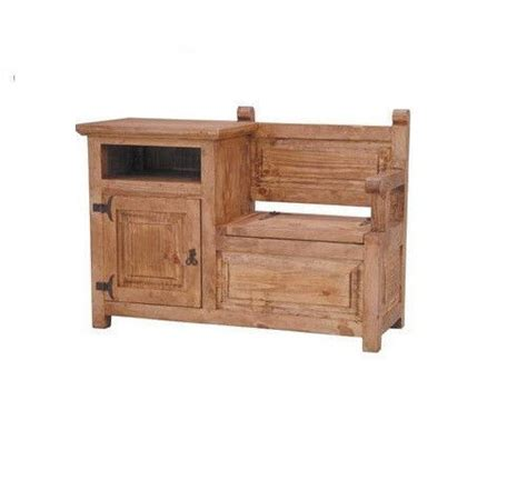 telephone bench rustic telephone bench storage solid wood western cabin