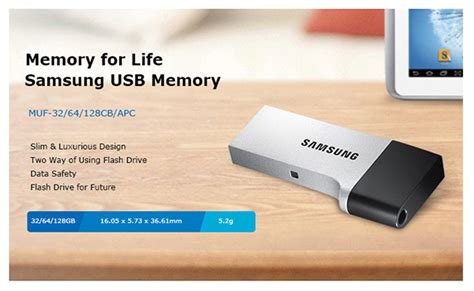 Usb Otg Samsung Original genuine samsung usb 3 0 duo otg flash drive memory stick