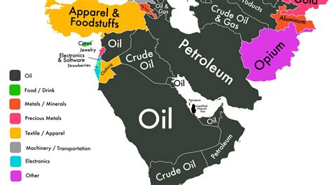 middle east economic map this one map sums up the economy of the middle east