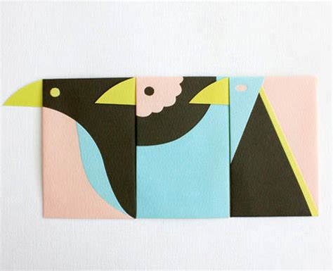 Handmade Envelope Design - japanese bird envelopes handmade