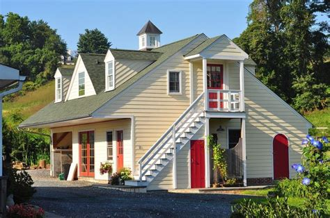 enclosed exterior stairs shed traditional  detached