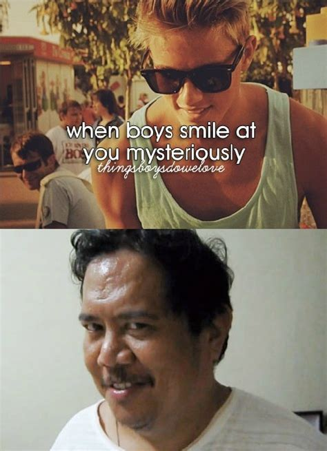 Thingsboysdowelove Meme - when boys smile at you mysteriously with creepy intentions