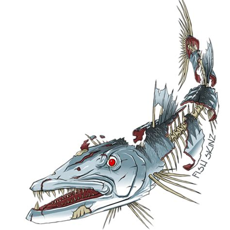 bowfishing tattoos fish skinz decals clipart best