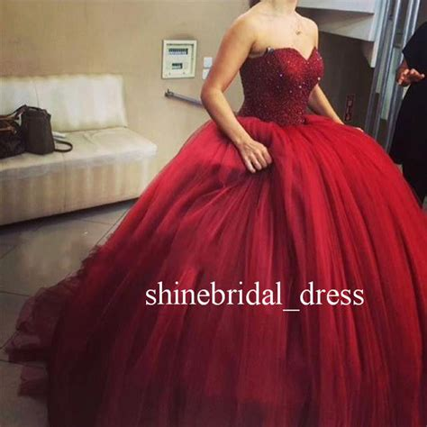 Sweet Colour Dress sweet 15 16 burgundy quinceanera dresses prom formal