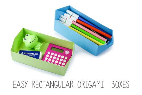rectangle origami box easy rectangular origami box