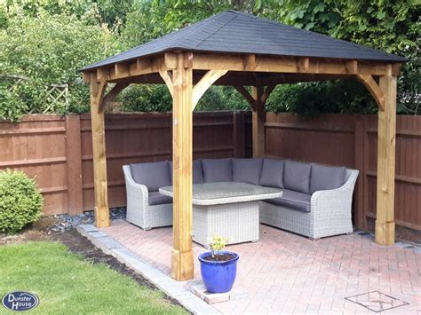 fixed gazebo gazebos wooden open heavy duty garden gazebo kit square