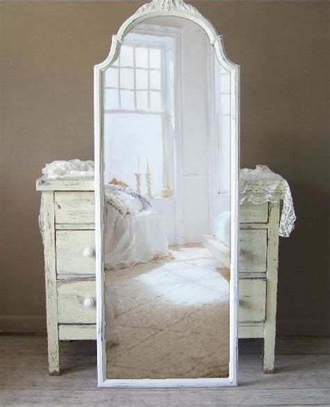 Shabby Chic Floor Standing Mirror Architecture White Shabby Chic Floor L