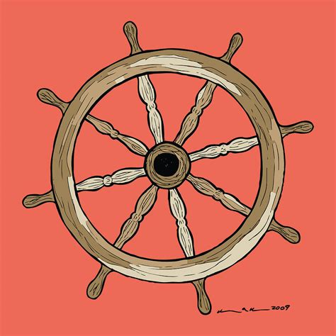 how to draw a boat steering wheel the gallery for gt ship wheel drawing