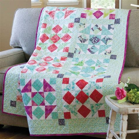 Quarters Quilt by Picnic In The Park Size Quarter Quilt Pattern