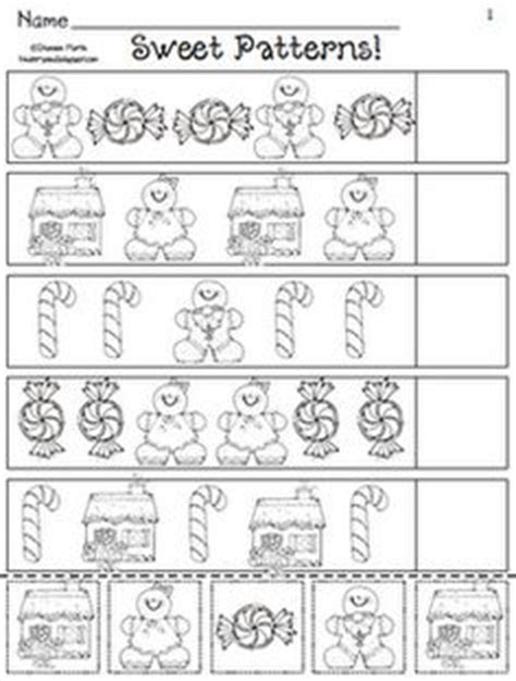 christmas pattern worksheet kindergarten pattern trace the shape that comes next 2 worksheets