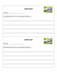 Exit ticket template exit ticket template