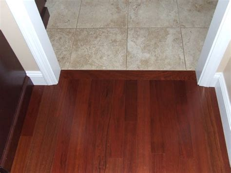 Hardwood Floor Transition Hardwood To Tile Transition How To Make The Transition