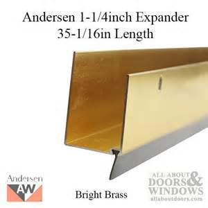 Expander 1 1 4 inch thick 35 1 16 length bright brass