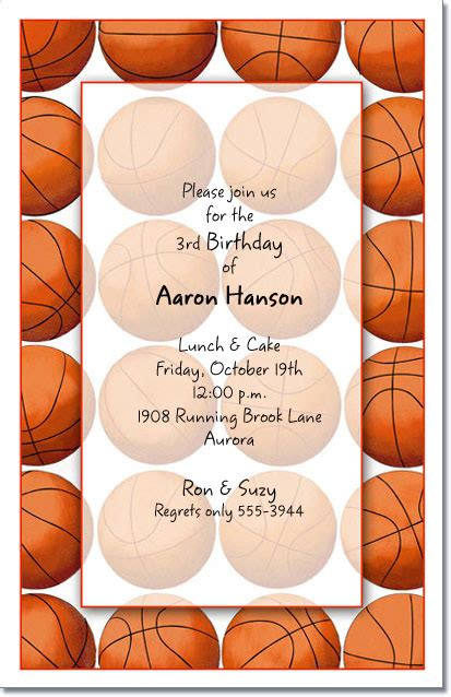 Wedding Background Score by Basketball Invitations Basketball Invitation