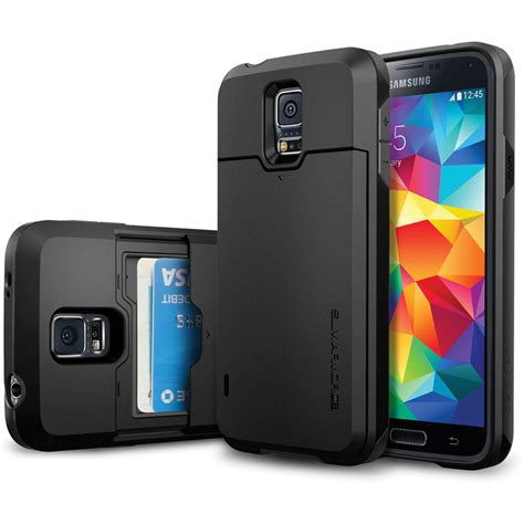 New Spigen Armor Shockproof For Samsung S5 S5 spigen slim armor cs for galaxy s5 smooth black sgp10982