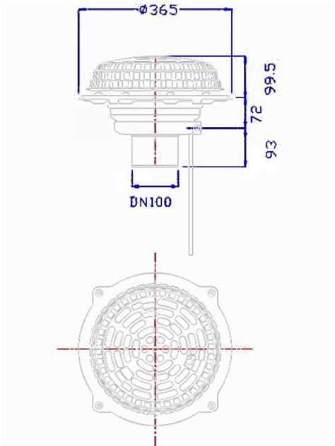 Lu Hid Fi corp sifon acoperis fi110mm cu parafrunzar si incalzire