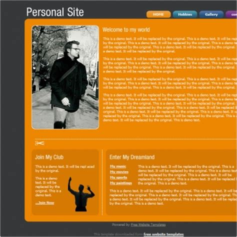 personal site template free website templates in css html