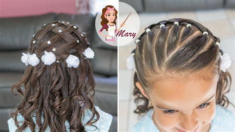 peinados para nias de 10aos para la comunion peinado f 193 cil para primera comuni 211 n con cabello suelto y