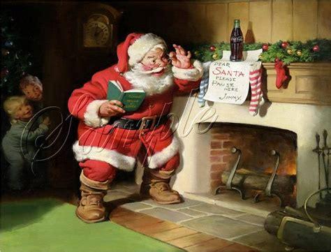 Santa Fireplace Picture by Santa Claus Coke Cola Bottle Fireplace Children