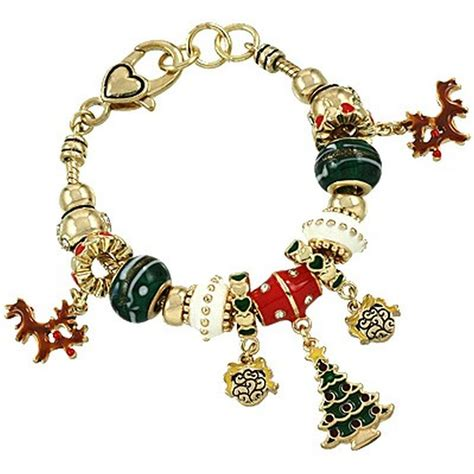 theme pandora inspired charm bracelet gold plated