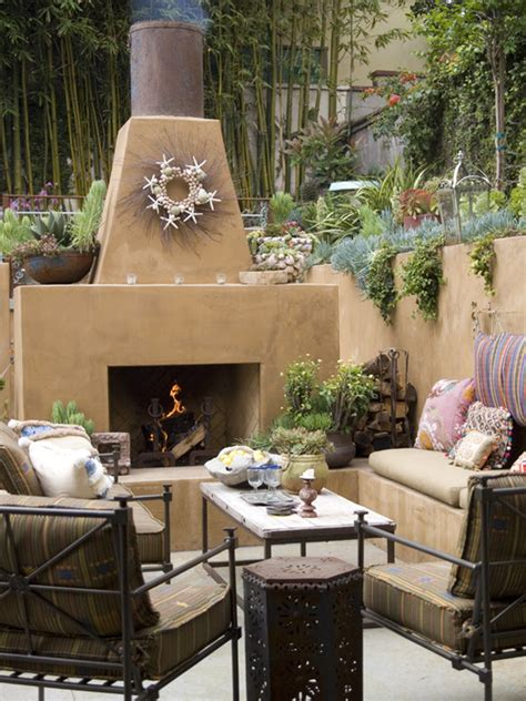 Southwest Garden Decor Santa Fe Courtyards Home Design Ideas Pictures Remodel And Decor