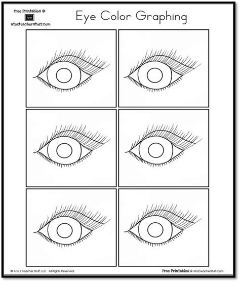 eye coloring pages for preschool eye color graphing a to z teacher stuff printable pages