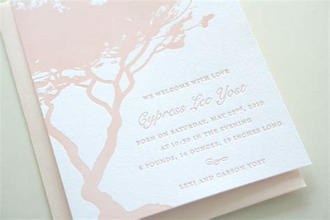 letterpress wedding announcement cypress letterpress baby announcements invitation crush