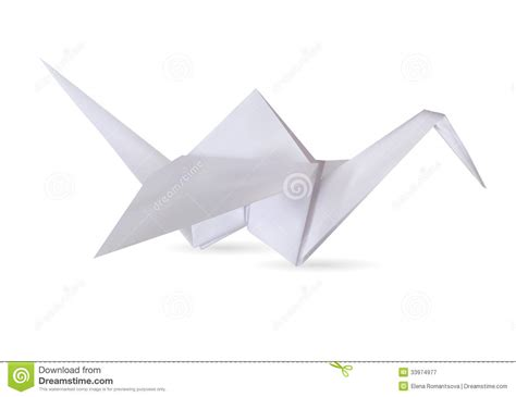 Stork Origami - stork royalty free stock photography image 33974977