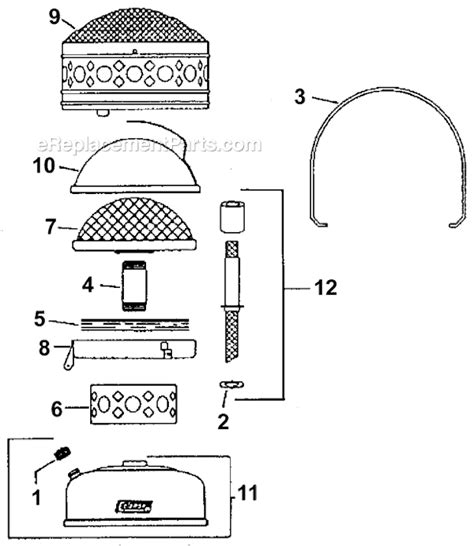 Coleman 512a700 Parts List And Diagram Ereplacementparts Com Coleman Patio Heater Parts