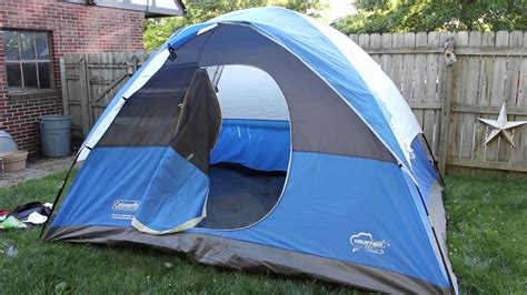 Coleman Sundome 6 Person Tent Redwhite coleman river gorge 6p