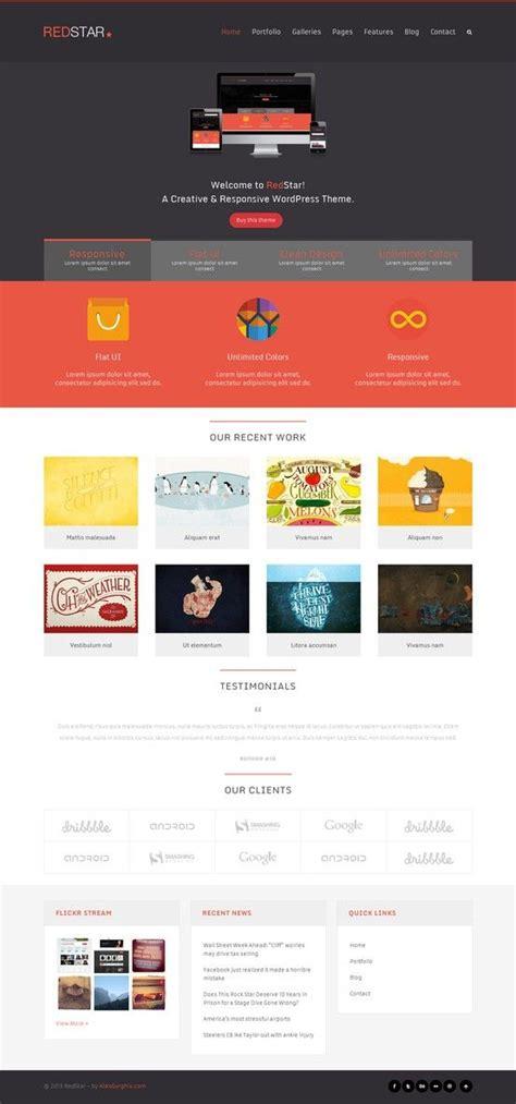 themeforest design redstar a creative wordpress theme http themeforest